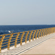 Perspective view of a pier. — Stock Photo