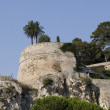 Ruined old castle walls in Monaco. — Stock Photo
