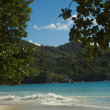 Beautiful beach Anse Lazio — Stock Photo