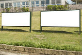 Big Blank Outdoor Billboards — Stock Photo