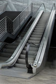 Escalator and stairway — Stock Photo