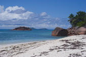 Beach Anse Matelot Praslin island, Seych — Stock Photo