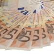 A fan of 50 Euro bank notes. — Stock Photo