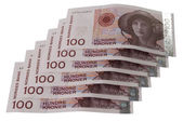 One hundred Norwegian crones paper bank — Stock Photo