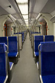 Train carriage inside — Stock Photo