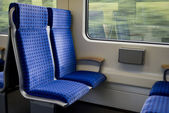 Trains seats — Stock Photo