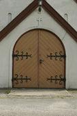 Entrance of the old Church — Stok fotoğraf
