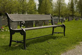 The Park Wooden Bench — Stock Photo