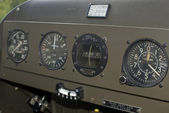 Control panel of an airplane — Stock Photo