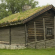 Royalty-Free Stock Photo: Old farmer\'s wooden house museum Gamle Hvam.