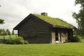 Old farmer's wooden house museum Gamle Hvam. — Stock Photo