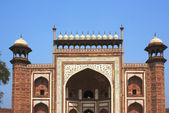 Entrance to Sikandra, Tomb of Akbar — Stock Photo