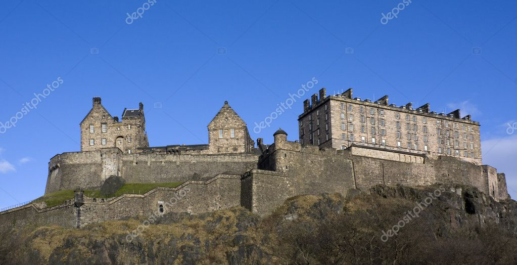 Panaromic view of the Edinburgh Castle, Scotland — Stock Photo #2852677