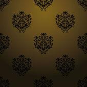 Exclusive black baroque pattern — Stock Vector