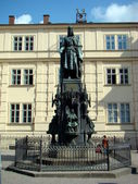 The statue of Charles IV in Prague — Stock Photo