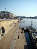The Rashinovo waterfront in Prague — Stock Photo