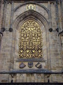 St. Vitus Cathedral. Window — Stock Photo