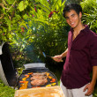 Royalty-Free Stock Photo: Pacific island man barbecuing