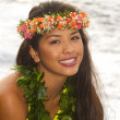 Portrait of a beautiful hawaiian girl - Foto Stock