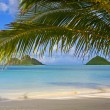 Mokulua islands off lanikai beach - Foto Stock