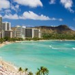 Waikiki beach, hawaii - Stock Photo