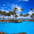 Swimming pool on Waikiki beach, Hawaii - Foto Stock