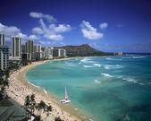 Spiaggia di waikiki, hawaii — Foto Stock