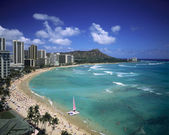 Playa de waikiki, hawaii — Foto de Stock