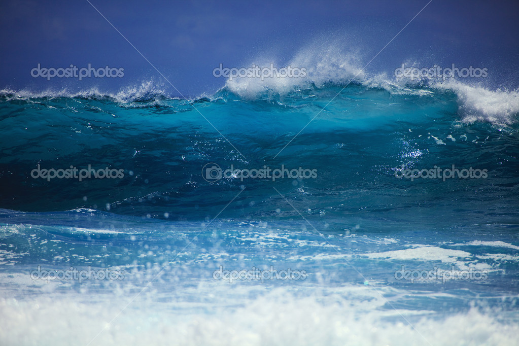 Storm surf surges against Oahu shore  Stock Photo #2856944