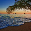Foto Stock: Pacific sunrise at lanikai