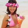 Beautiful Polynesian girl in bikini — Stock Photo #2865773