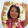 Beautiful Polynesian girl in bikini — Stock Photo #2865797