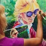 Artist painting a self portrait — Stock Photo #2866783