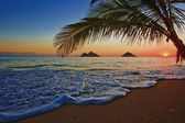 Nascer do sol do pacífico no lanikai — Foto Stock