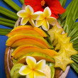 Selection of tropical fruits — Stock Photo
