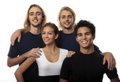 Portrait of four young friends — Stock Photo