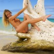 Beautiful blond girl in a bikini - Lizenzfreies Foto