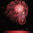 Stock Photo: Fireworks display on the fourth of july