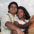 Stock Photo: Portrait of a young mixed couple