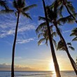 图库照片: Pacific sunset at kaanapali beach
