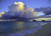 Late afternoon offshore rainstorm — Stock Photo
