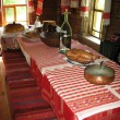 Stock Photo: Ancient dinner room in russicountry