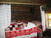 Ancient bedroom in county home — Stock Photo
