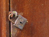 Old closed padlock — Stock Photo