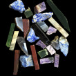 Pieses of semiprecious gems - Stock Photo