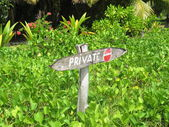 Boundary of private ownership — Stock Photo