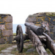 Ancient cannon in island fort — Stock Photo
