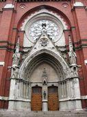 Porta della chiesa — Foto Stock