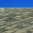 Roof made of slate — Stock Photo