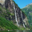 Mountain river with waterfall in Norway — Stock Photo